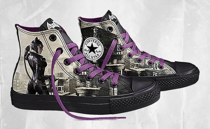 New Converse Catwoman Chuck Taylor All Star Hi Old Prin