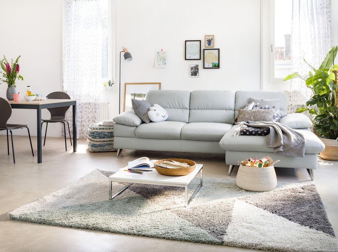 Wohnzimmer Teppich ~ Micasa wohnzimmer mit ecksofa kleist teppich rebekka micasa