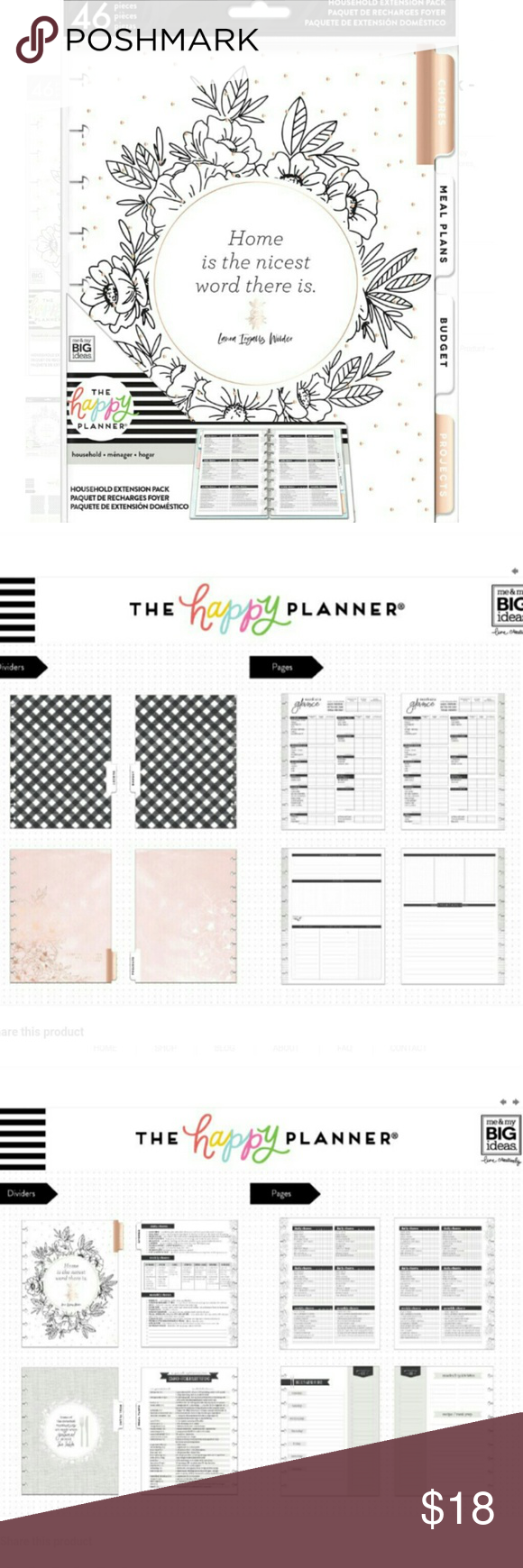 HOUSEHOLD EXTENSION PACK CLASSIC The Happy Planner ☆ New