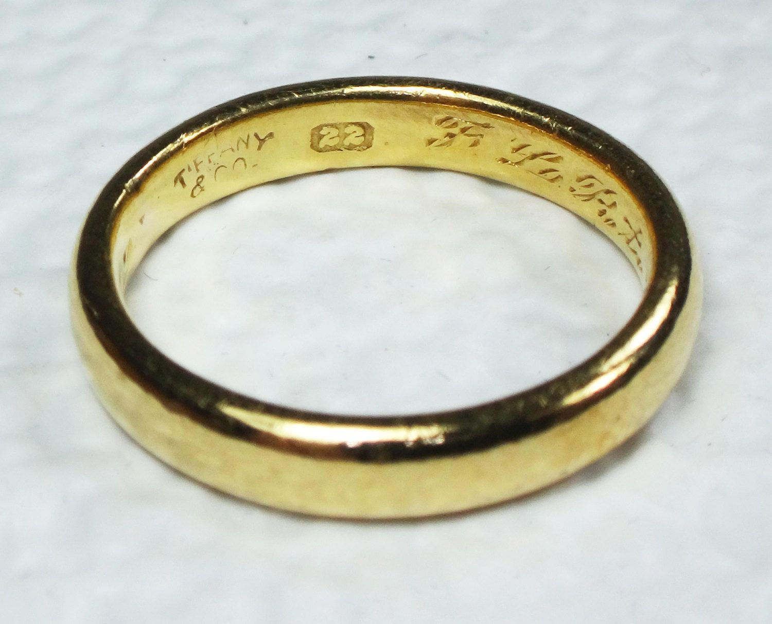 Tiffany Ring Antique Tiffany Co Yellow Gold Wedding 22K Band Gold