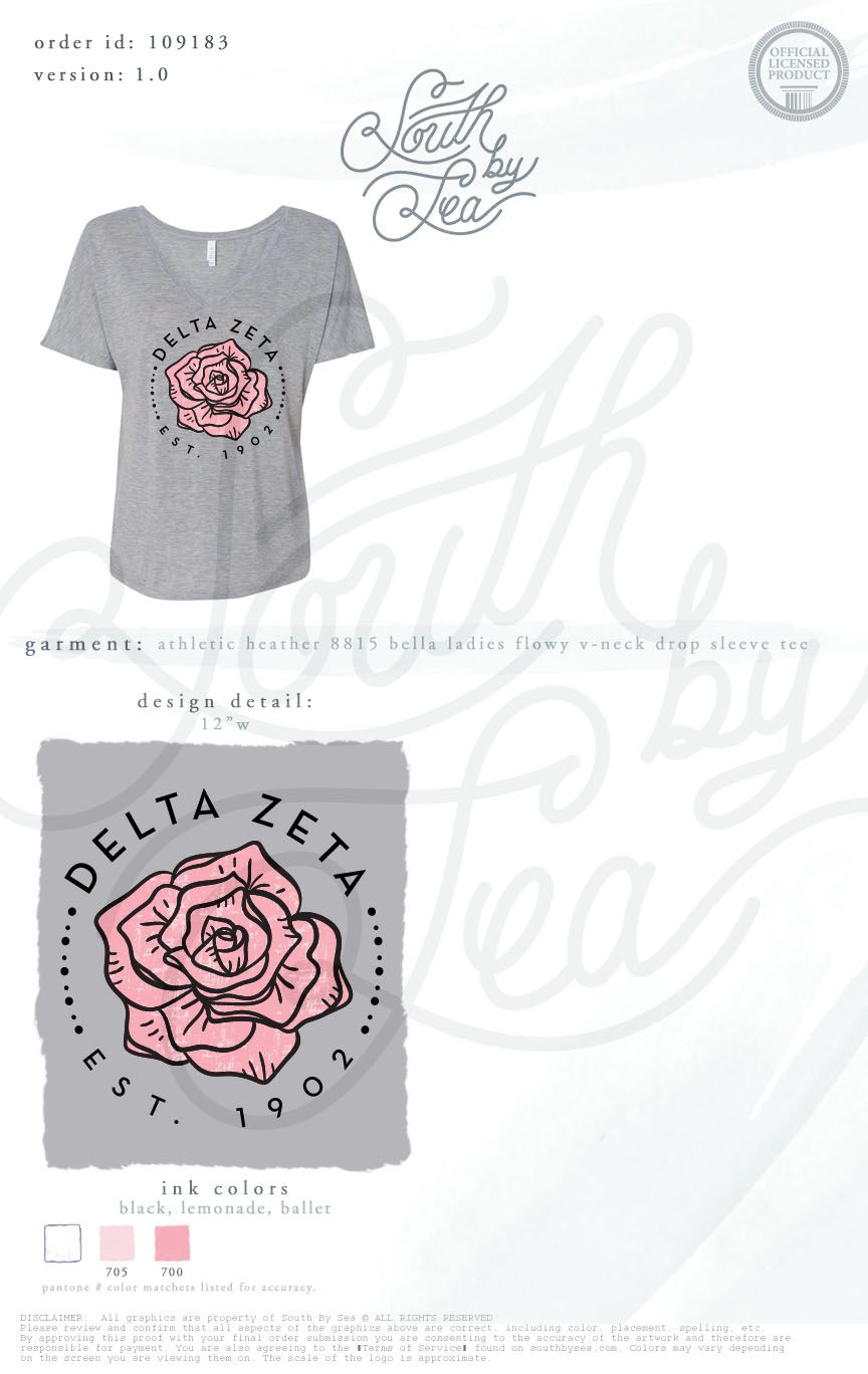 Delta Zeta Dz Rose Design Rosebud Sisterhood Recruitment - Design Baby Zeta