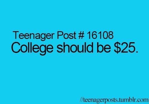 It could be $1 and I still wouldn't be able to afford it.