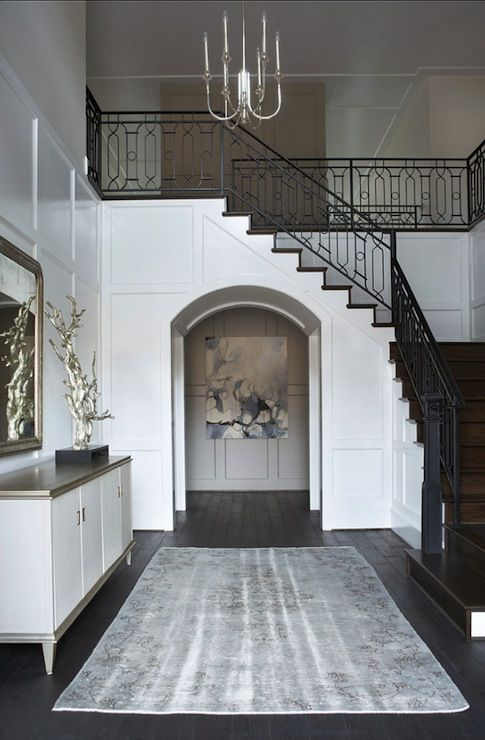 Foyer Stair Rails : Linda mcdougald design entrances foyers sherwin