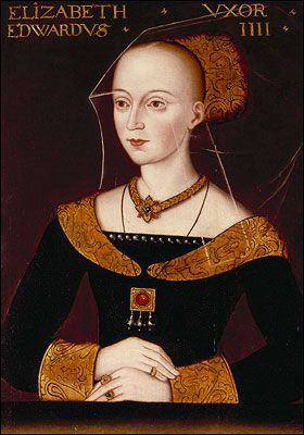 Elizabeth Woodville (?1437-1492) consort to Edward IV - by a British artist ca. 1500 - Ashmolean Museum...Through her daughter Elizabeth of York, she is ancestor to every English monarch since Henry VIII and every Scottish monarch since James V. The White Queen.