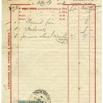 Vintage French Receipt Aged Shabby Invoice Old Paper Free Digital Graphics Chocolat Phalier Douelle Vintage Printables Vintage Images Old Paper