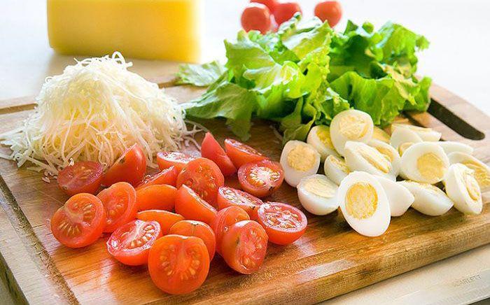 Свлат креветки яйца листья салата