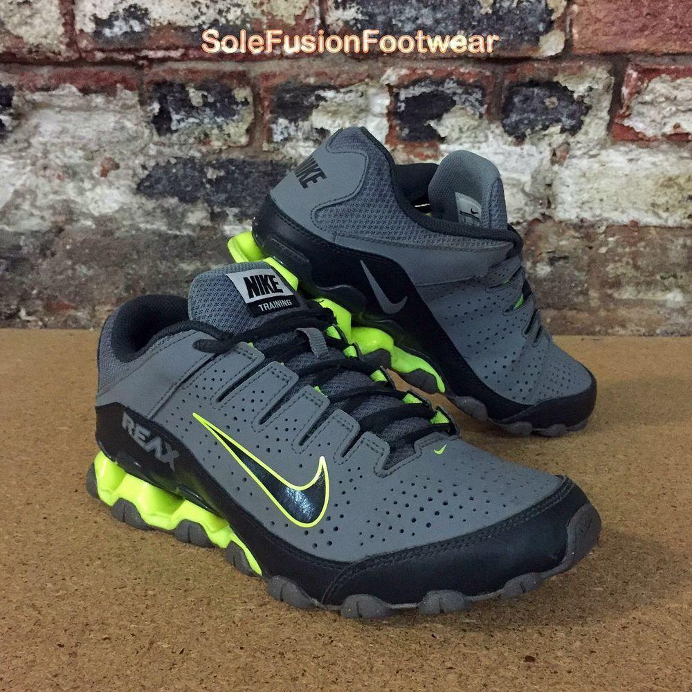 Nike Air REAX 8 Mens Running Trainers Grey/Yellow sz 7 Rare ...