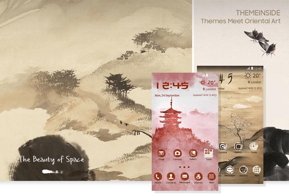 Themes meet oriental art | Samsung Themes Magazine | English