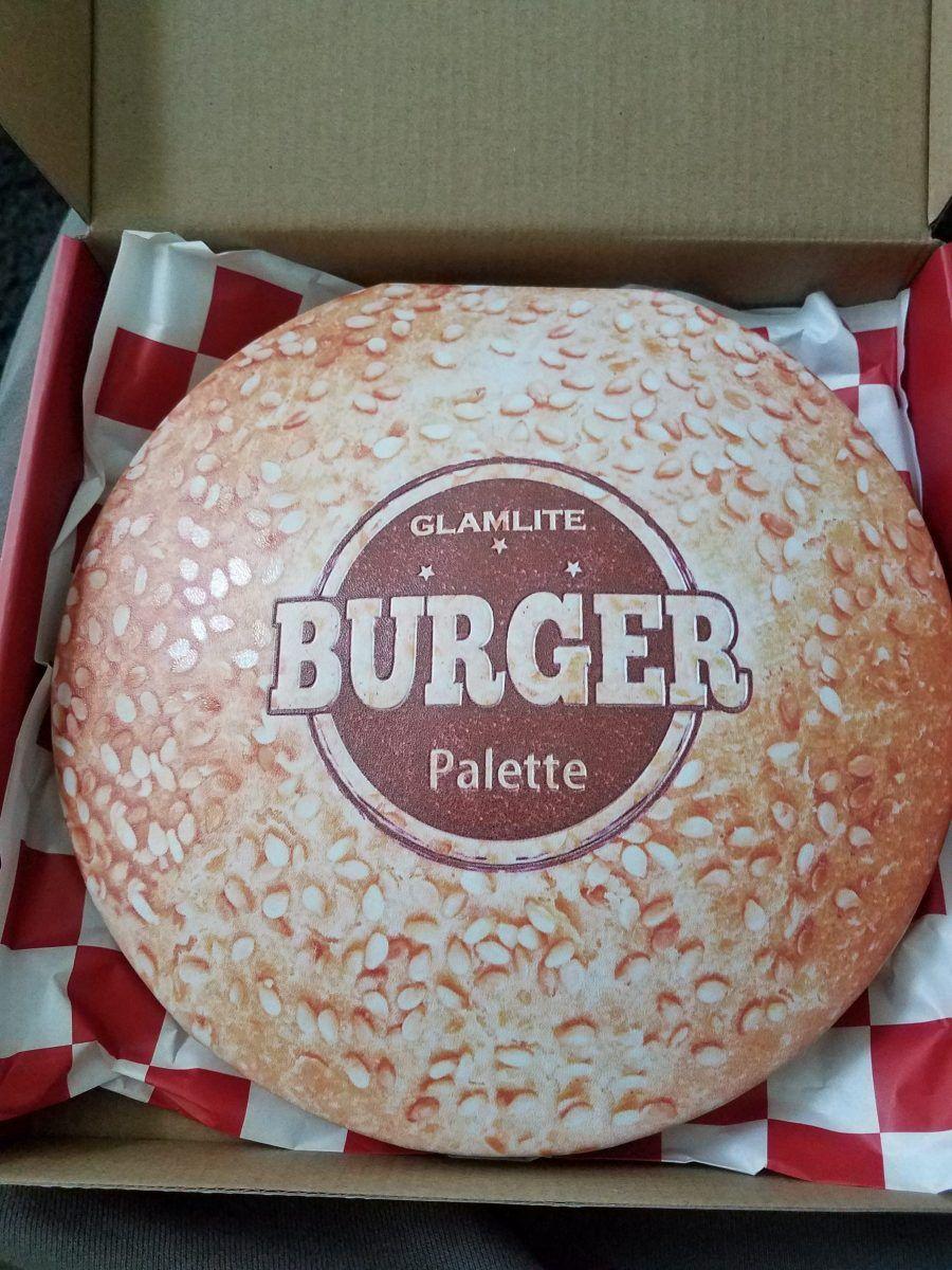 Glamlite Burger Palette Review. eyeshadow Food inspired