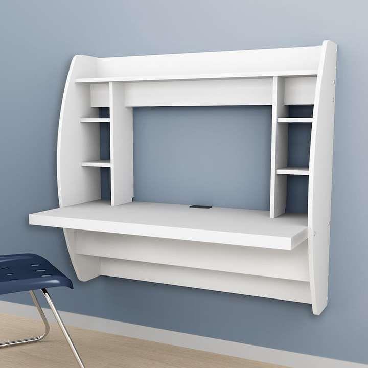 Kohlu0027s Floating Desk With Storage I Like This Desk Idea For Smaller Spaces!  #