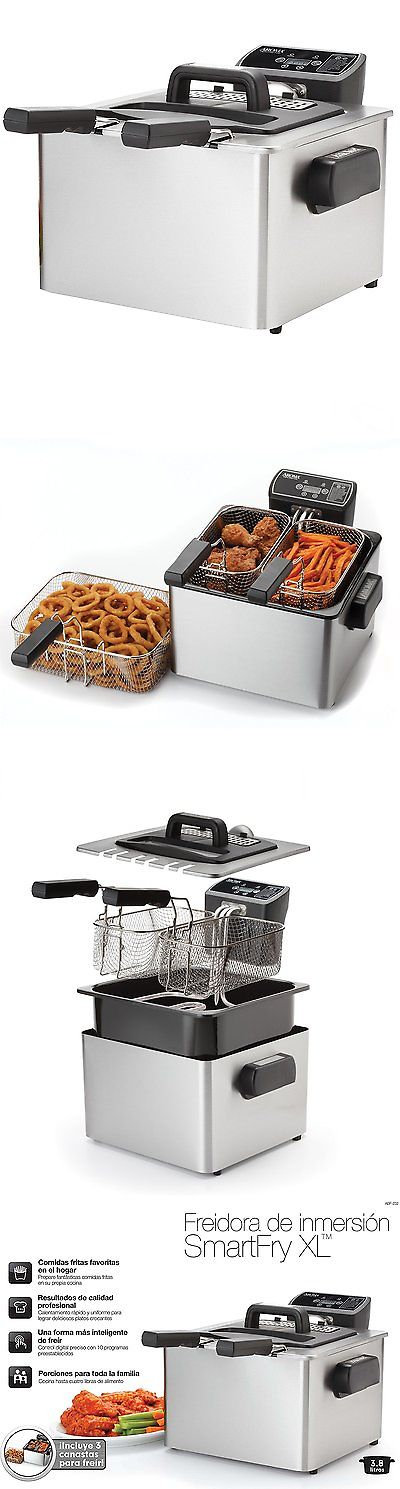 Aroma Smart Fry XL Digital Deep Fryer 4 Quart Large Capacity ADF 232