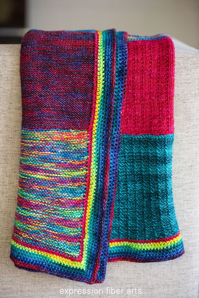 Love Rainbow Knitted Blanket Pattern - FREE by expression fiber arts ...