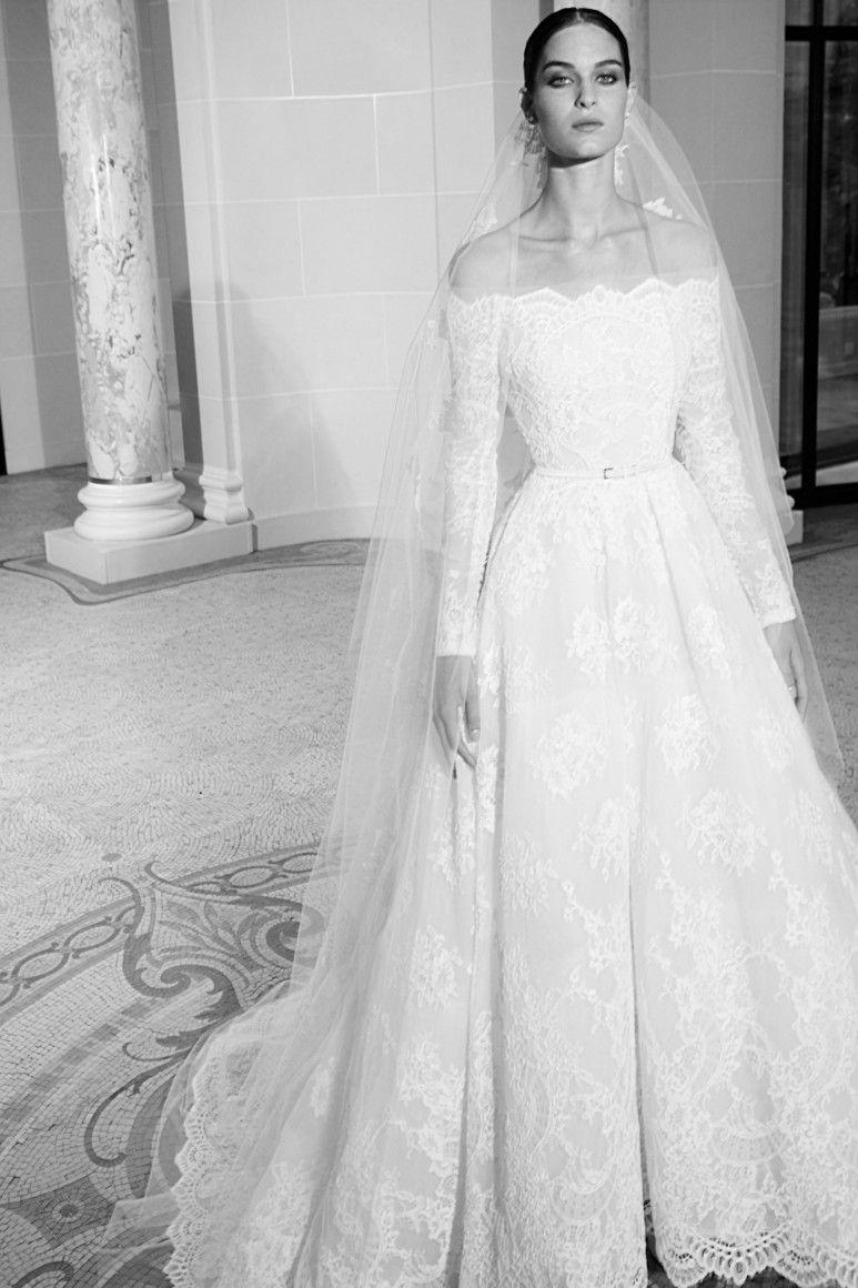 Elie Saab Bridal Fall Winter 2019 2020 Fashion Wedding Dress Wedding Dresses Wedding Dress Long Sleeve Elie Saab Wedding Dress