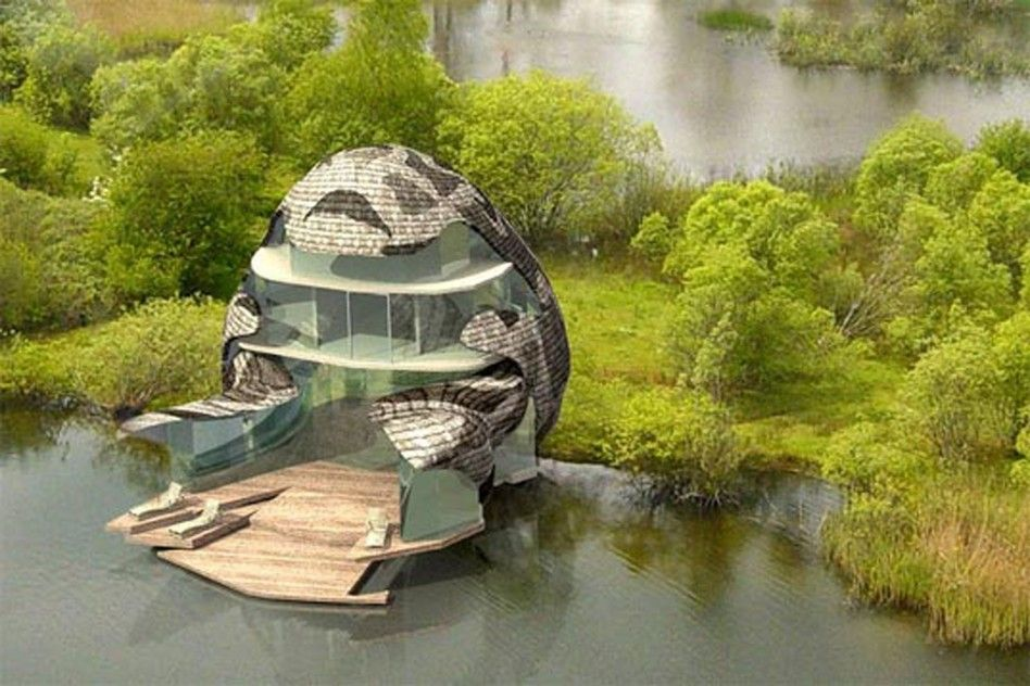 Architecture, Exceptional Eco Friendly House Designs Concepts And Artworks:  Futuristic Egg Pattern Eco Friendly