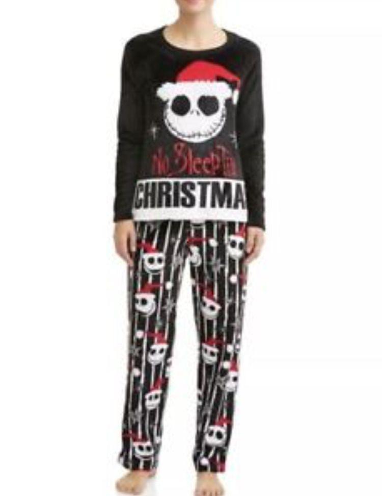528a5d22ff Womens Jack Skellington Pajama 3X (22W-24W) Set Skull Black New NWT ...
