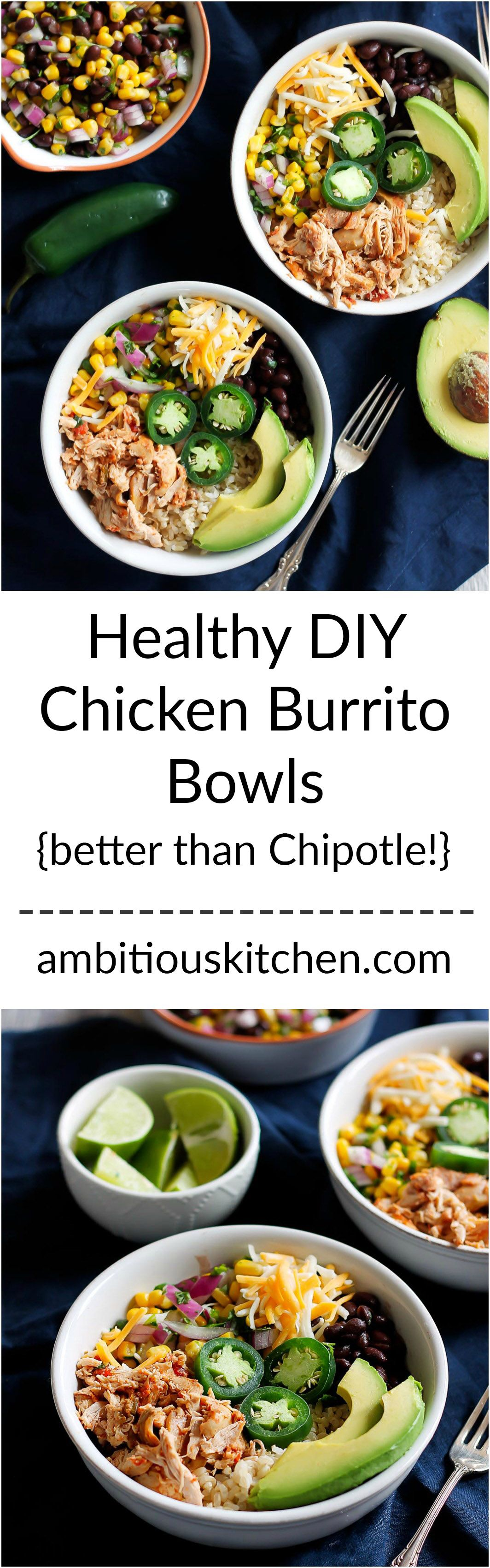 Cheap healthy meals - Cheap Healthy Meal Prep Idea Better Than Chipotle Diy Chicken Burrito Bowls