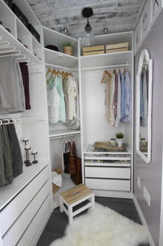 Dream Closet Makeover Reveal   Ankleidezimmer, Schlafzimmer und ...