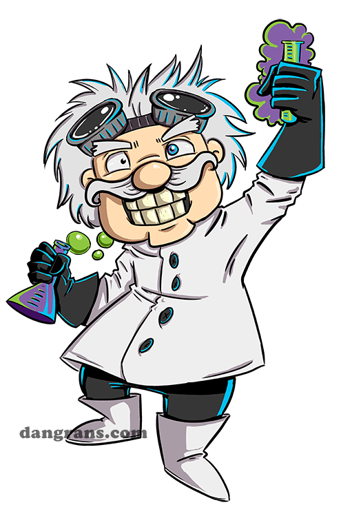 how to draw a mad scientist cartoon