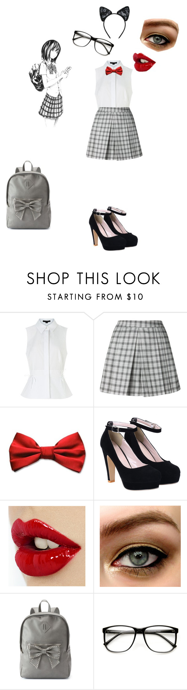"""""""Anime School Girl"""" by emilymedina on Polyvore featuring Alexander Wang, Candie's, Maison Close, women's clothing, women, female, woman, misses and juniors"""