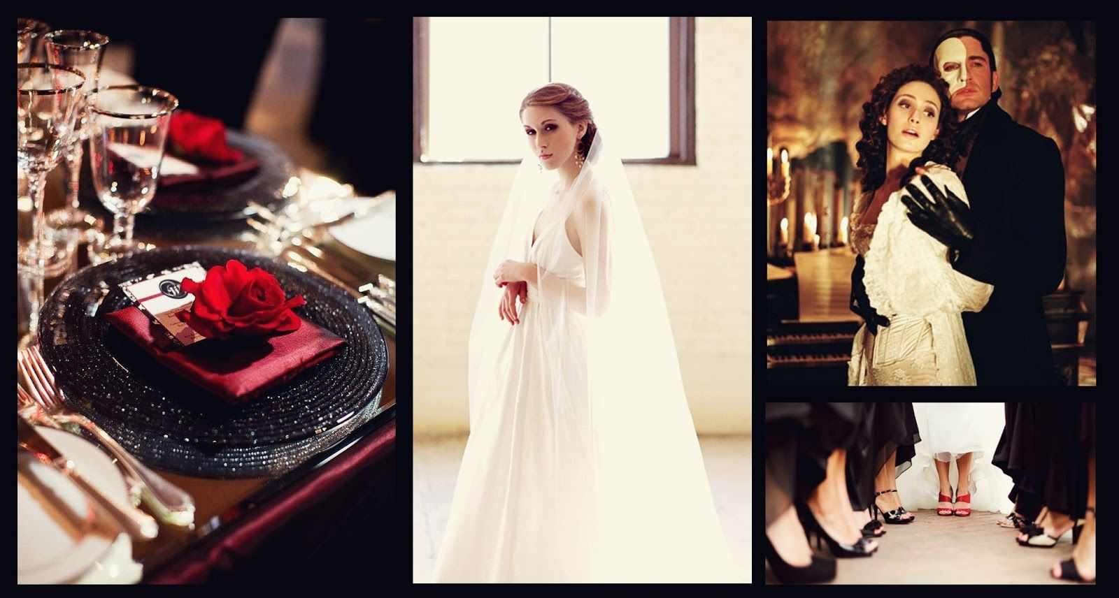 Phantom of the Opera inspired wedding! http://somethingborrowedco ...