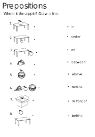 Image result for exercises with prepositions in on under