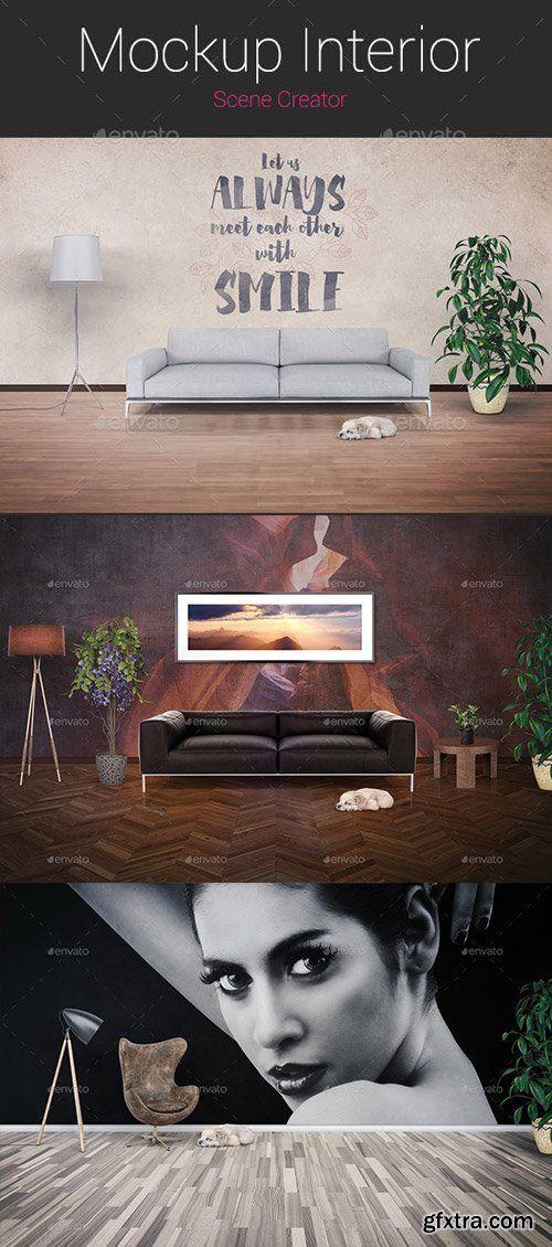 Graphicriver Mockup Interior Scene Creator 15265563 Oblaka