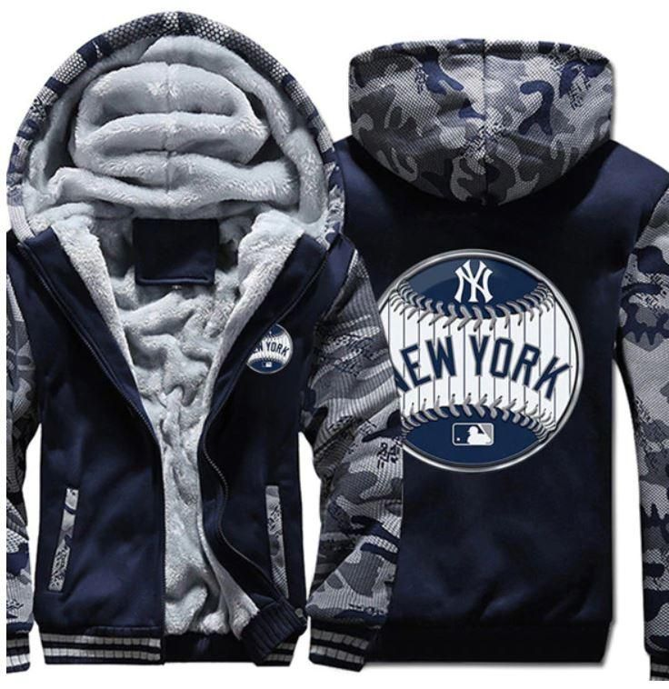 big sale 52fd1 8cf31 New York Yankees Team baseball MLB Thicken Zipper Hoodies ...