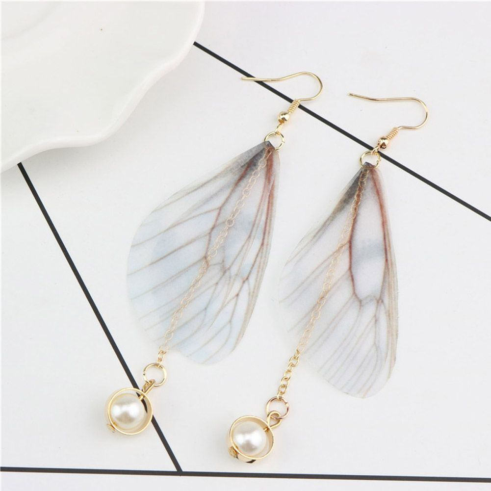 2017 Cute Butterfly Wing Drop Earrings With Rainbow Crystals ...