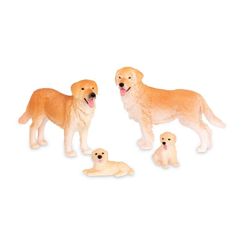 Terra Dog Family Set Animal Figures Pet Toys Fur Real Friends