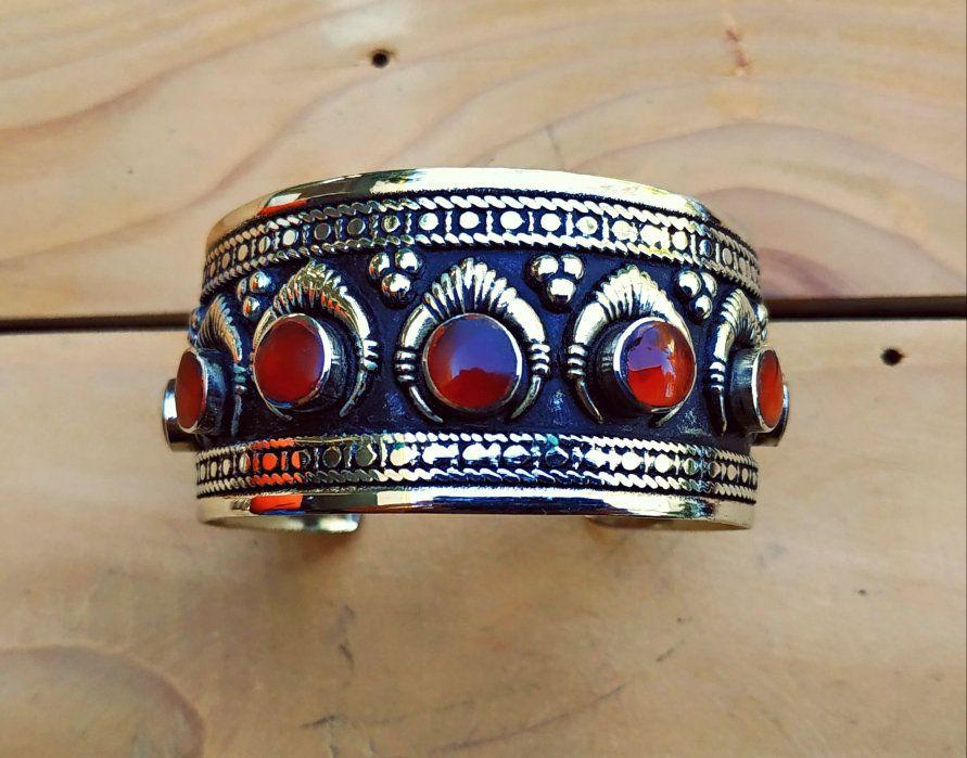 Statement Bracelet Vintage Style Kuchi Cuff Bracelet Afghan Aqeeq Cuff bracelet afghan bracelet afghan jewelry bohemian jewelry