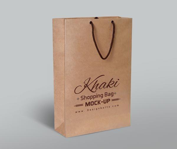 Download Free Khaki Shopping Bag Mockup Psd Mockup Free Psd Bag Mockup Psd Template Free