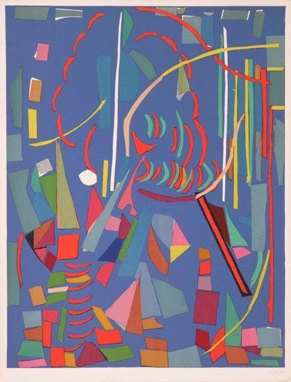 "Andre Lanskoy:  ""Blue Composition"""