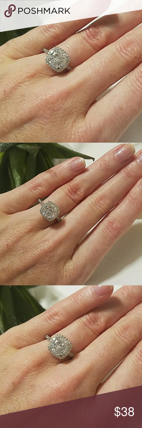 Exquisite diamonique 925 halo engagement ring I simply adore this ...