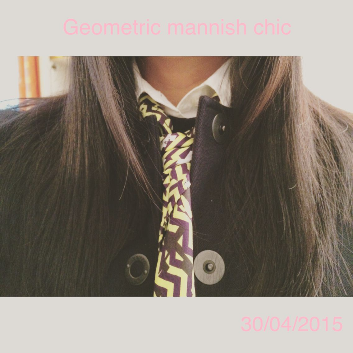 Geometric mannish chic