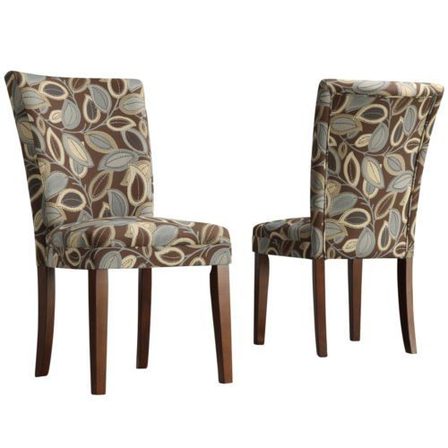 Best Amazon Com Home Leaf Print Accent Parson Side Chairs 400 x 300