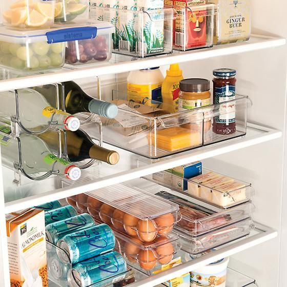 Idesign Linus Fridge Bins Egg Holder Organizar Geladeira Ideias