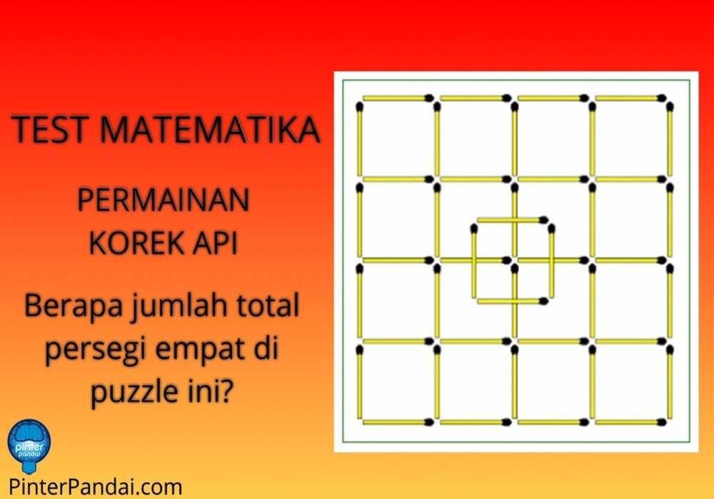 Matematika Permainan Korek Api Berapa Jumlah Persegi 4 Di Puzzle Ini Matematika Korek Belajar