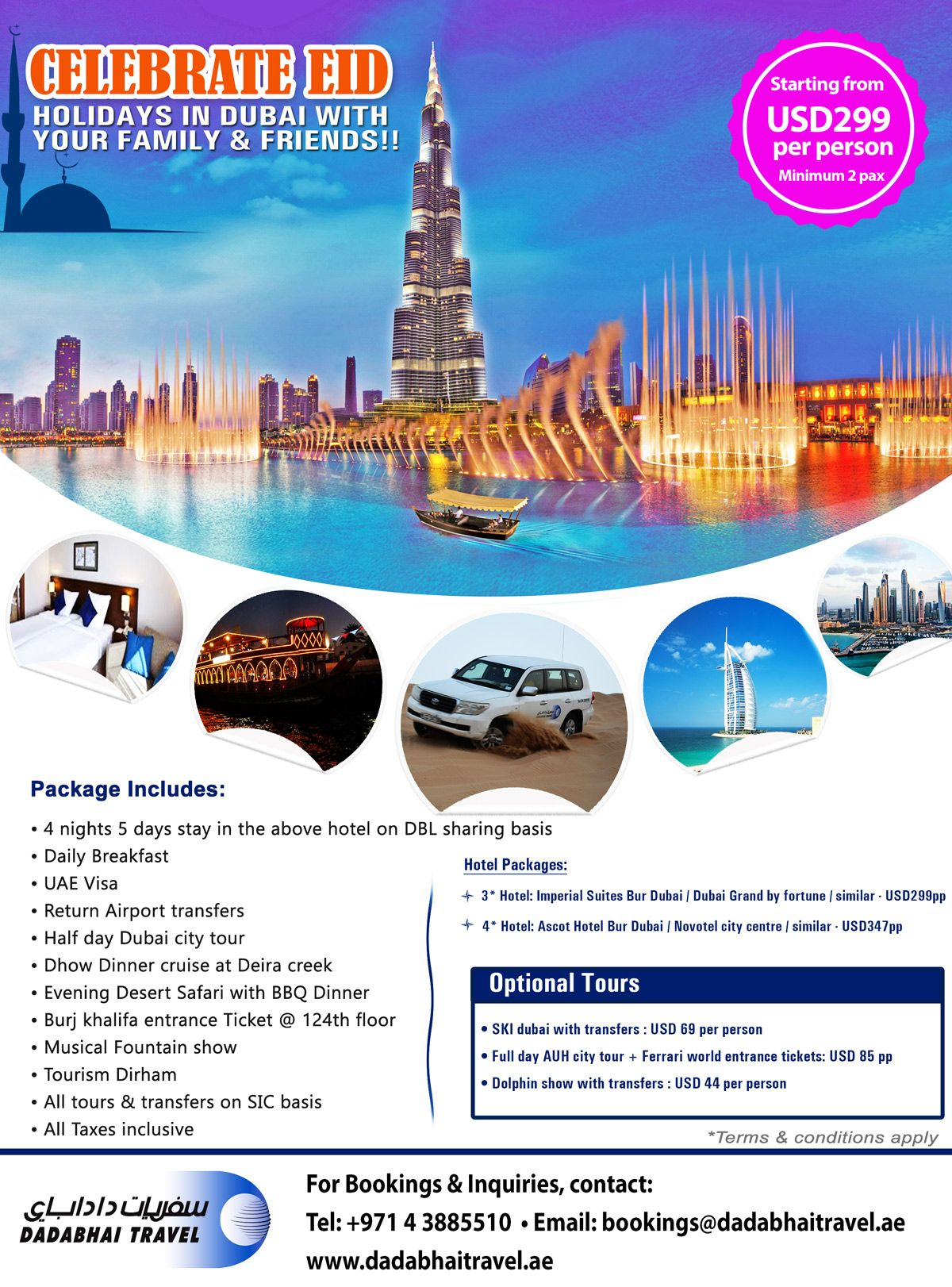 Celebrate EID Holidays in Dubai with Your Family & Friends
