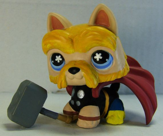 Littlest Pet Shop Mighty Thor OOAK Custom by LittleCustomShop