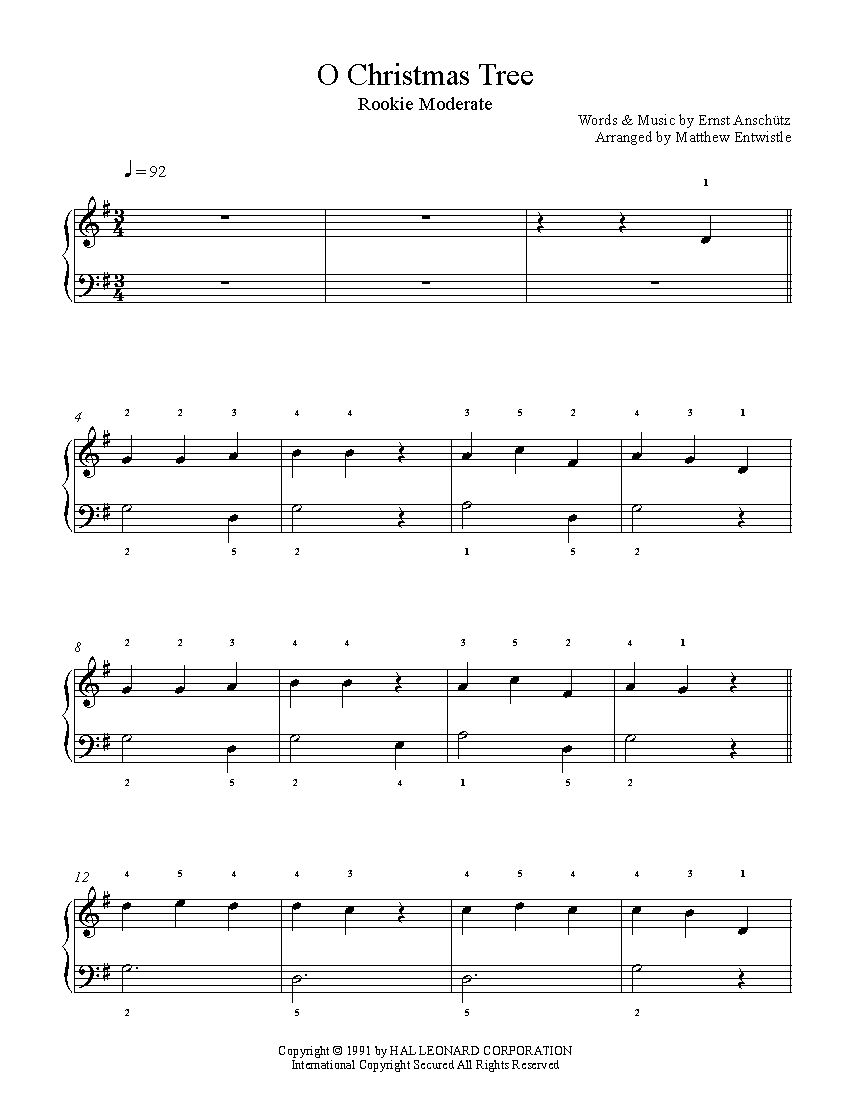 O Christmas Tree by Traditional Piano Sheet Music | Rookie Level ...