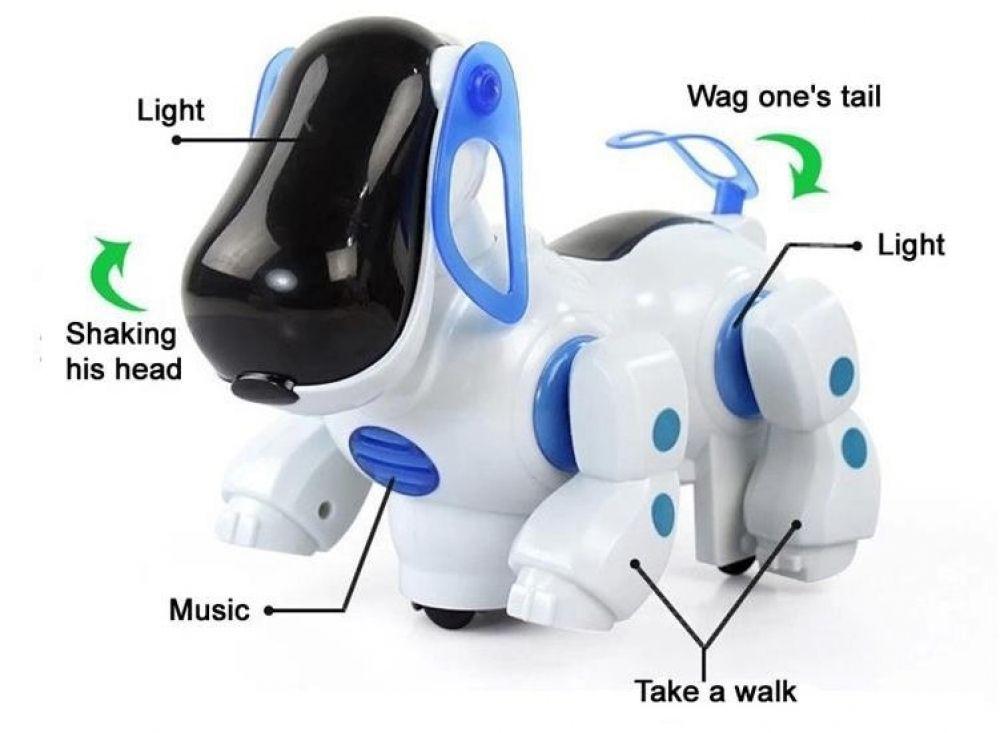 Amazing Robot Dog Lovely Music Shine Intelligent Electronic Robot