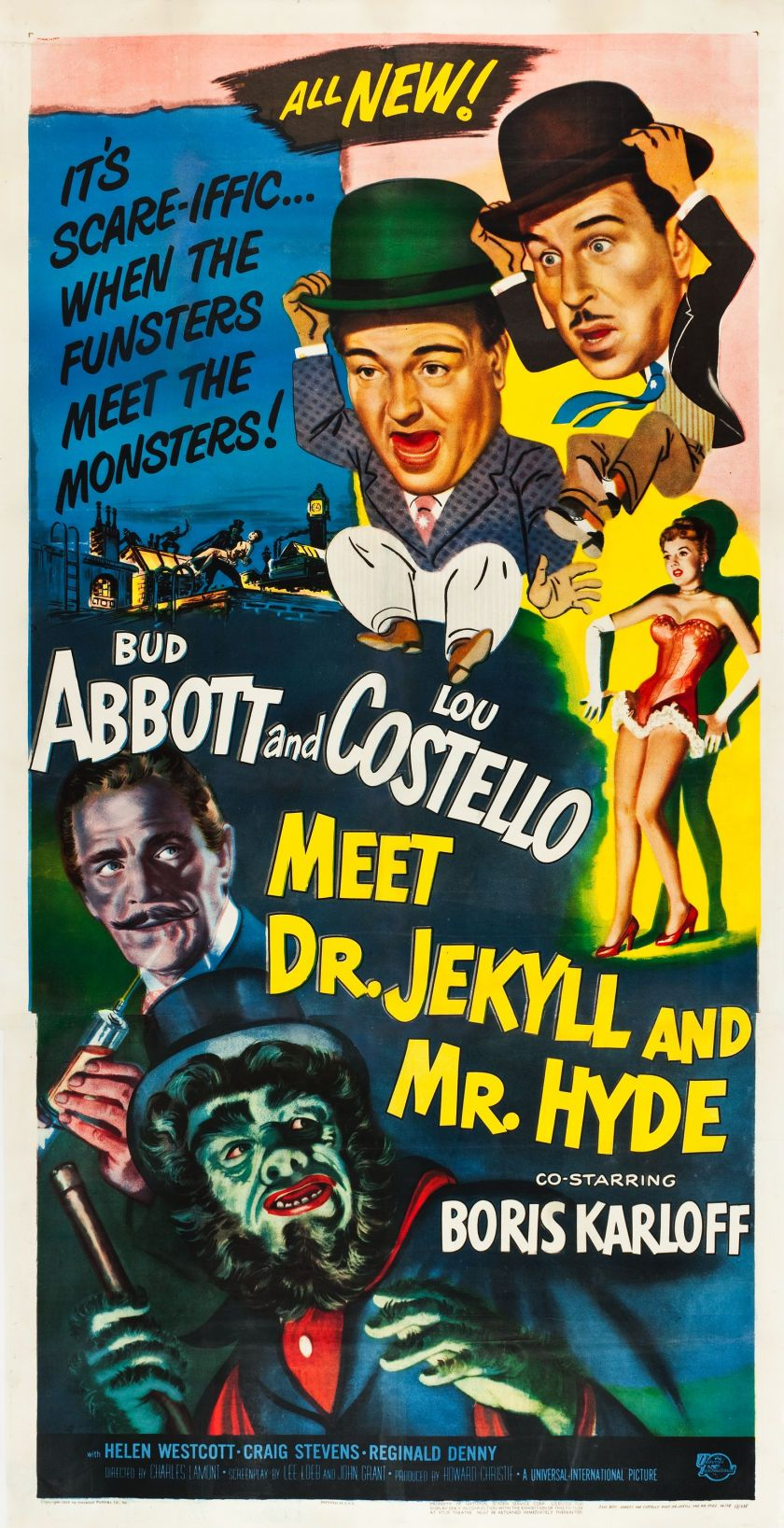 Abbott And Costello Meet Dr Jekyll And Mr Hyde 1953 Three Sheet