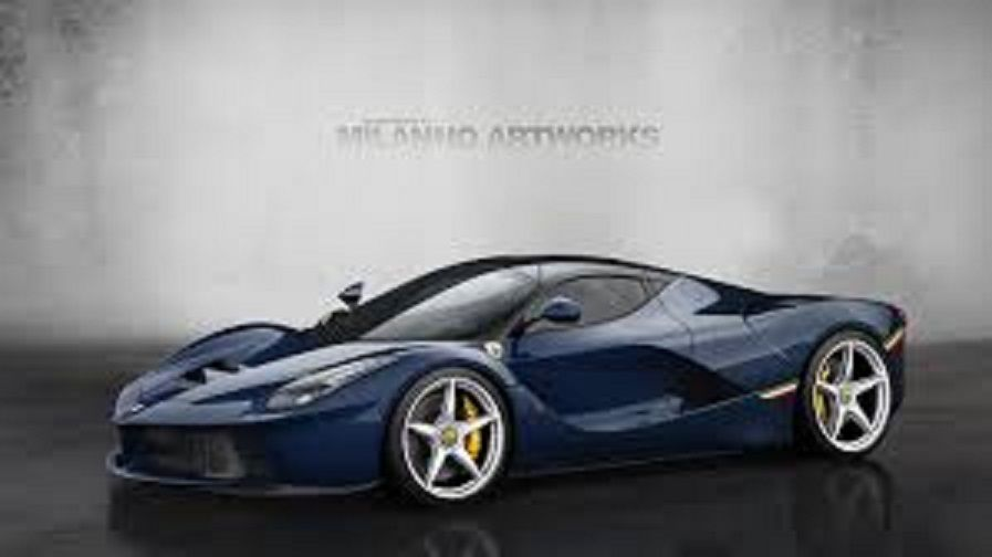 2013 Blue Ferrari Laferrari Also Known As The F70 And By Its