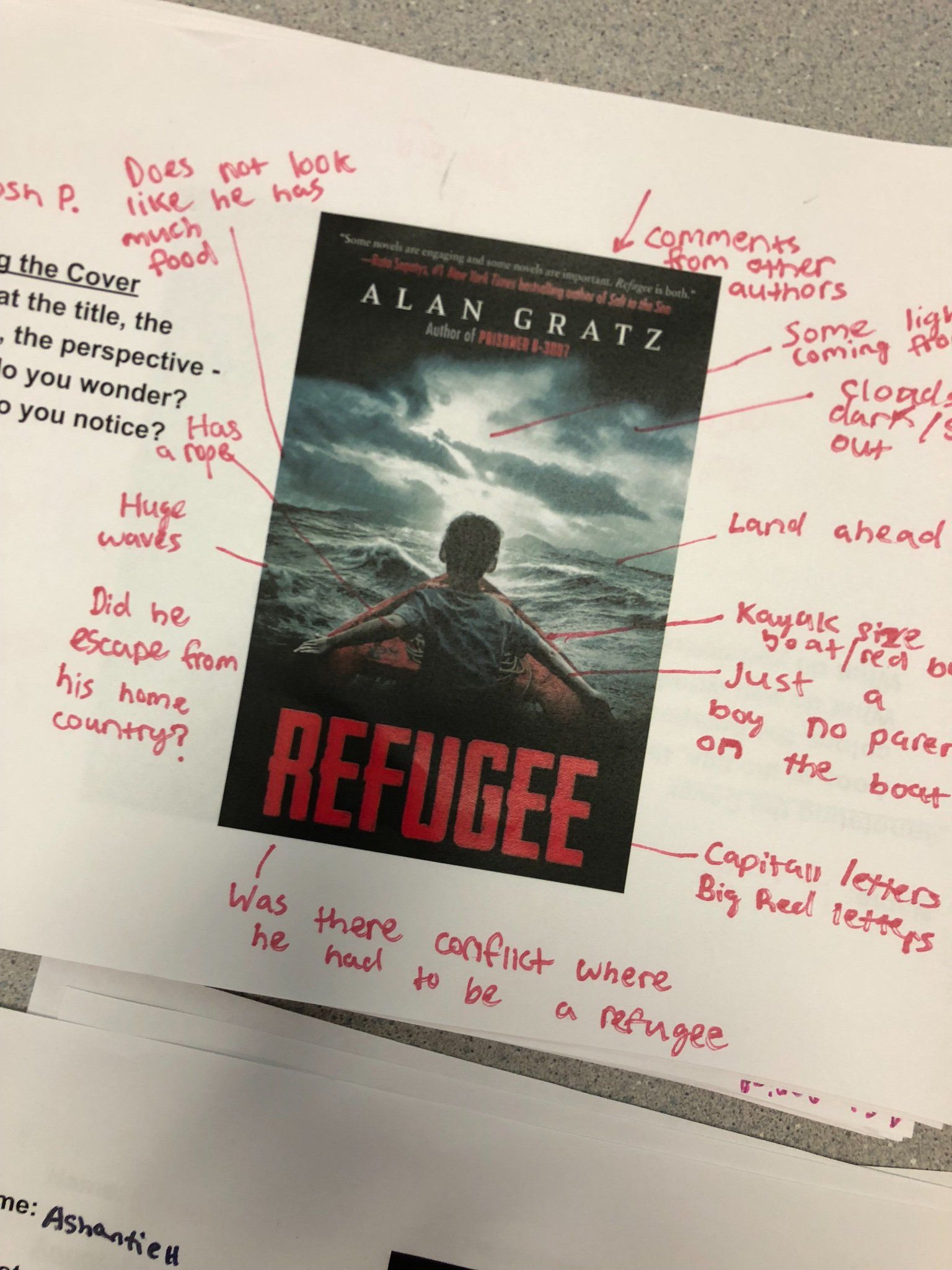 Annotating a book cover via pernille ripp literature