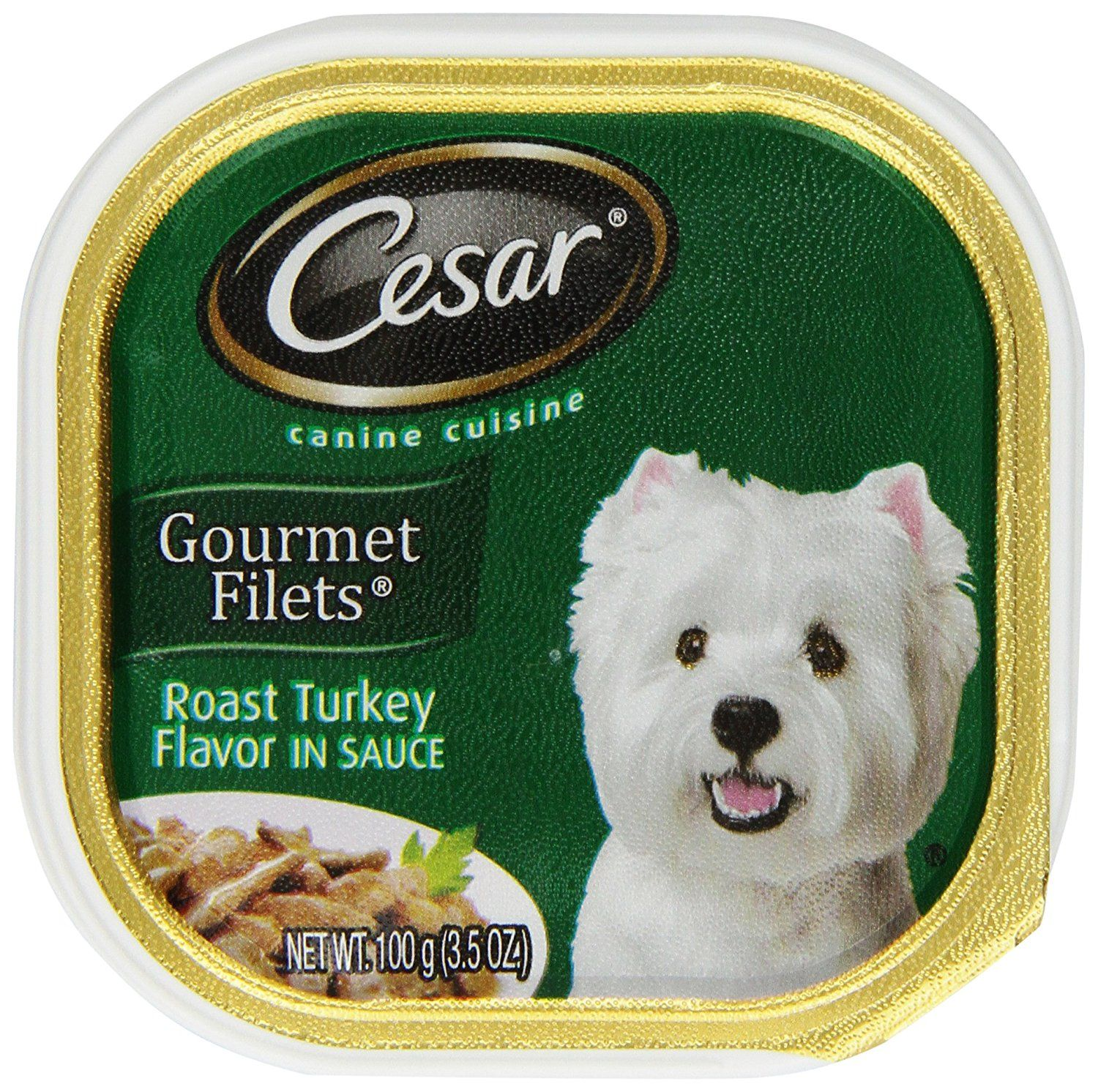 Cesar Gourmet Filets Roast Turkey Flavor Dog Food Trays 3 5 Ounces Pack Of 24 Wow I Love This Check It Out Wet Dog Food Dog Food Recipes Canned Dog Food