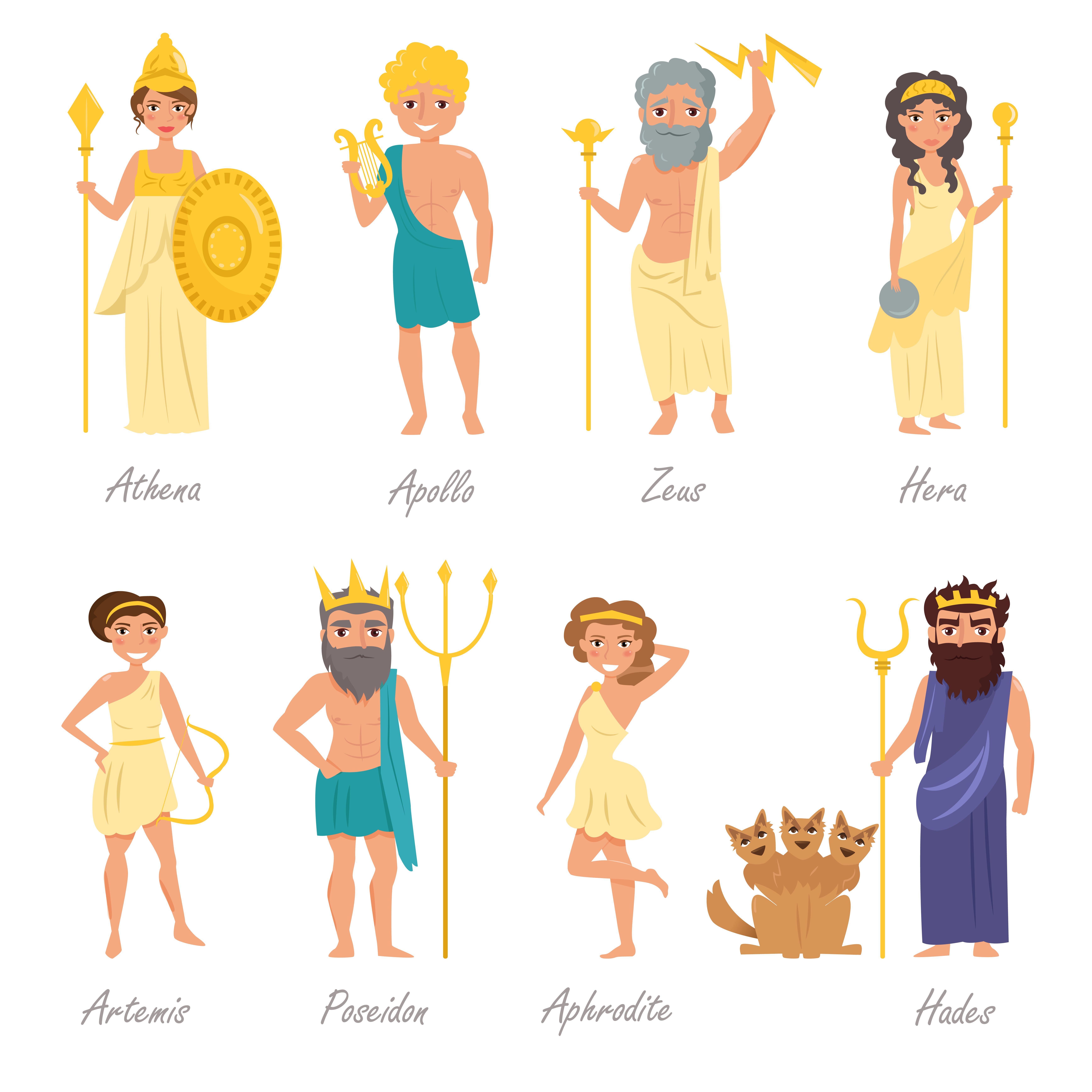griekse goden en romeinse goden