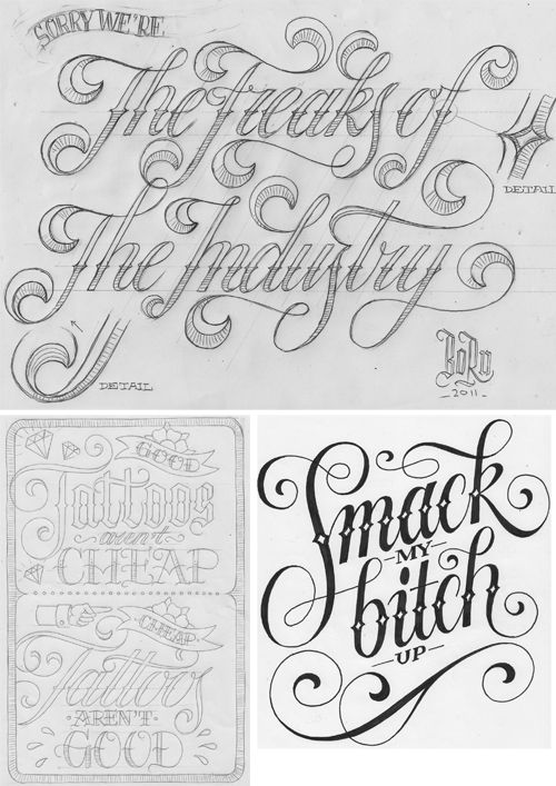 26CHARACTERS • THE ART OF MICHIEL VAN DER BORN •: Painting | lettering | typography » Sketching