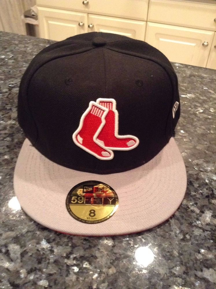 41a887e3d73 Boston  RedSox New Fitted Cap Hat Size 8  MLB from  19.99