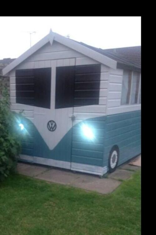 Image Discovered By H Find Images And Videos About White Blue And Vw On We Heart It The App To Get Lost In What You Love Cool Sheds Shed Backyard Sheds