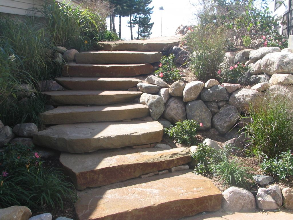 Natural Stone Steps Natural Stone Pavers Garden Stairs Landscape Stone